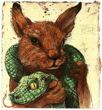Kaninchen und Schlange von Rainer Ehrt