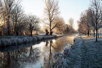 Wintertag an der Niers von Frank  Kimpfel