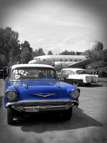 57 blue Chevy by fabair