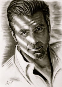 'George Clooney in Black and White' by gittag74