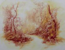 Waldweg von Helen Lundquist
