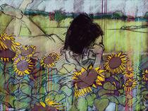 liegender Akt in Sonnenblumen by Skadi Engeln