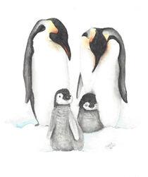 Pinguine von Nadine Conrad
