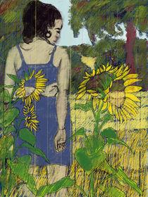 blaues Kleid in Sonnenblumen by Skadi Engeln