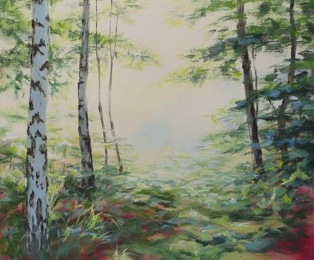 Oelgemaelde-helen-lundquist-birkenwald-2