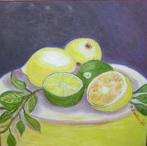 Zitronen auf dem Teller  von rita-markgraefe