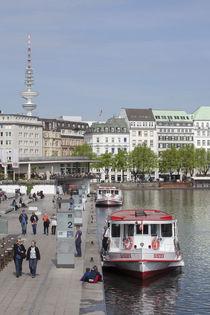 Blick vom Jungfernstieg zum  neuen Jungfernstieg , Hamburg von Torsten Krüger