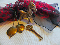 Silberpferd mit Schlüssel 1 by Eva Dust