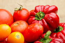 Tomatoes and Bell Peppers from the Kitchen Garden by maxal-tamor