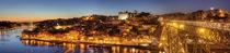 Ponte Dom Luís I und Altstadtviertel Ribeira bei Abenddämmerung, Porto by Torsten Krüger