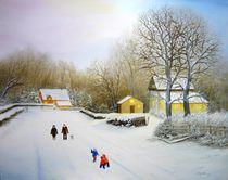 'Winterausflug,          2017,   Öl auf Leinwand,   Größe: 80cm x 100cm' von Jürg Meyerholz