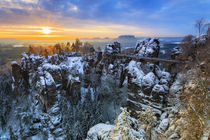 Januarmorgen an der Bastei  by moqui