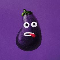 Funny Cartoon Eggplant by Boriana Giormova