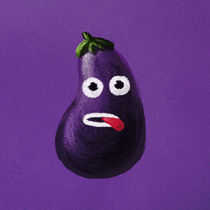 Funny Cartoon Eggplant von Boriana Giormova