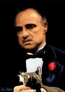 Marlon Brando - The Godfather by Dan Avenell
