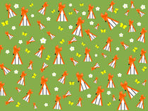 foxes in spring von kourai