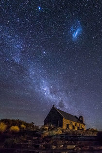 Church and Milky Way von Christine Büchler