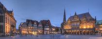 Altes Rathaus mit Liebfrauenkirche bei Abenddämmerung, Bremen von Torsten Krüger