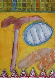Still Life with Hammer on Yellow  von Heidi  Capitaine