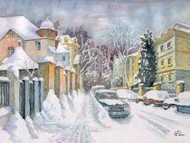 Winterliche Straße in Leipzig von Ronald Kötteritzsch