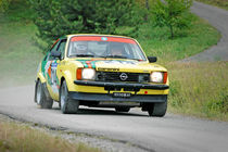 Yellow vintage Opel Kadett C Coupe racing car von maxal-tamor