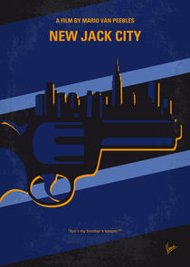 No762 My New Jack City minimal movie poster by chungkong