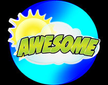 """Awesome"" sticker design by abg"
