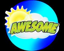 """""""Awesome"""" sticker design von abg"""