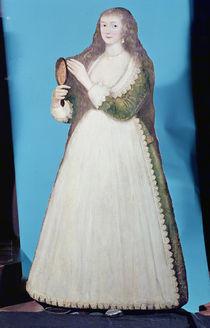 Dummy board figure of a woman by English School