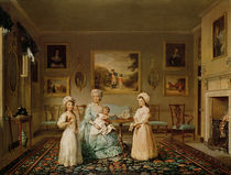 Mrs Congreve and her children in their London drawing room by Philip Reinagle