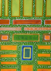 Filled Rectangles on Green Dotted Wall   by Heidi  Capitaine