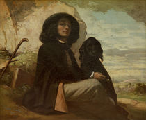 Courbet with his Black Dog by Gustave Courbet