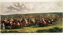 The Start of the Memorable Derby of 1844 by John Frederick Herring Snr