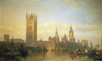 New Palace of Westminster from the River Thames von David Roberts