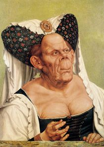 A Grotesque Old Woman, possibly Princess Margaret of Tyrol von Quentin Massys