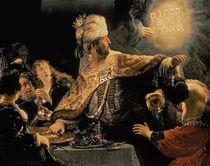 Belshazzar's Feast c.1636-38 by Rembrandt Harmenszoon van Rijn