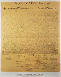 Declaration of Independence of the 13 United States of America of 1776 von American School