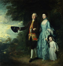 Mr. and Mrs. George Byam and their eldest daughter von Thomas Gainsborough