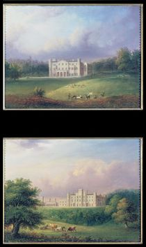 Two Views of Apley Priory by English School