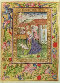 Codex Ser Nov 2599 f. 39v The Birth of Christ by German School