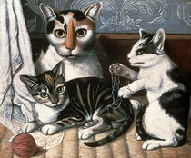Cat and Kittens, c.1872-1883 by American School