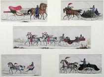 Russian Horse Drawn Sleighs von Russian School