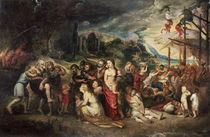 Aeneas prepares to lead the Trojans into exile von Peter Paul Rubens