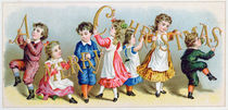 'A Merry Christmas', Victorian postcard by English School