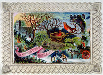 A Christmas Greeting, Victorian postcard by English School
