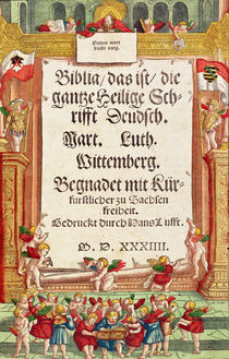 Title page from the Luther Bible by German School