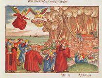 Revelation 18: Babylon burning by German School