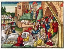 Samaria under siege, from the Luther Bible by German School