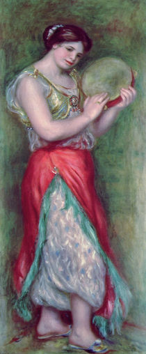 Dancing Girl with Tambourine von Pierre-Auguste Renoir