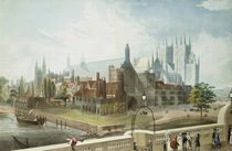 Westminster Hall and Abbey by John Gendall